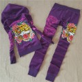 ED Hardy Womens Long Suits Tiger Logos Rose In Purple
