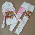 ED Hardy Womens Long Suits Tiger Logos Rose In White