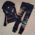 ED Hardy Womens Long Suits Tiger Rose In Black