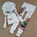 ED Hardy Womens Long Suits Tiger Rose In White