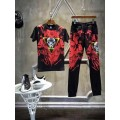 Ed Hardy Mens Short Suits Star Wars In Red Black