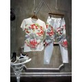 Ed Hardy Mens Short Suits Tiger Chinese Ink In White