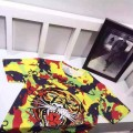 Ed Hardy Mens Short Suits Tiger In Yellow Black Red