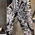 Ed Hardy Mens Short Suits Tiger Symmetric In Black