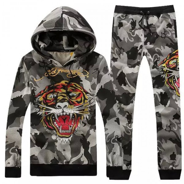 Ed Hardy Mens Suits Camouflage Tiger Grey Discount