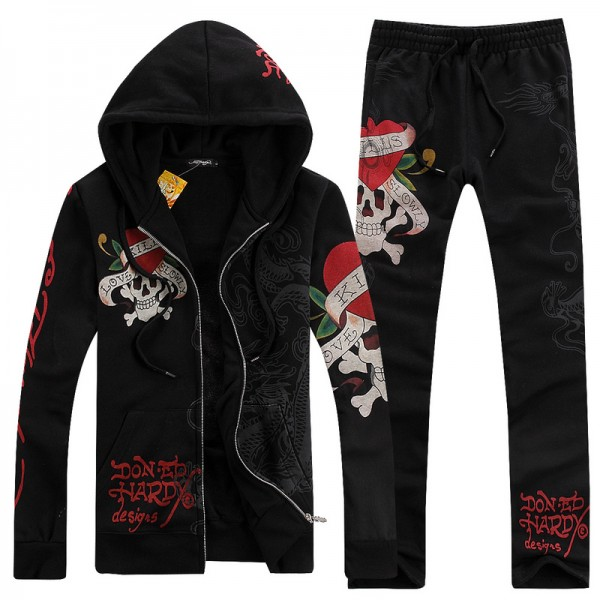 Ed Hardy Mens Suits Love Kill Slowly Dragon In Black