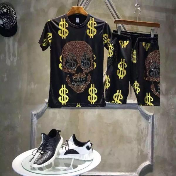 Ed Hardy Mens Suits Short Money Skull In Black