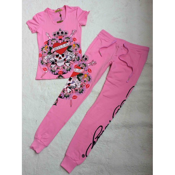 Ed Hardy Womens Short Suits Love Kill Slowly In Pink