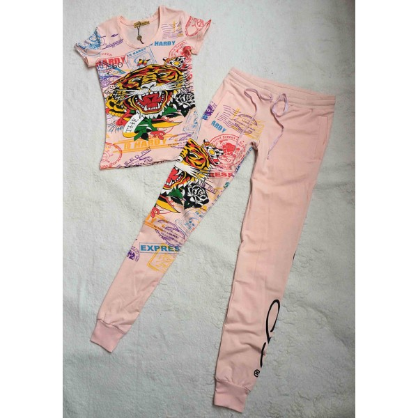 Ed Hardy Womens Short Suits Print Tiger In Pink