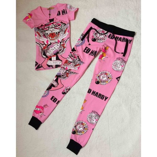 Ed Hardy Womens Short Suits USMC Glory In Pink
