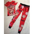 Ed Hardy Womens Short Suits USMC Glory In Red