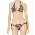 Black Ed Hardy Womens Swimsuit Bikini Love Kill Slowly Logos