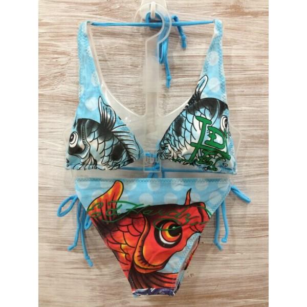 Clothing Ed Hardy Womens Swimsuit Bikini Cyprinoid