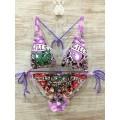 Don Womens Ed Hardy Swimsuit Bikini Love Kill Slowly Clothing