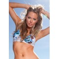 Ed Hardy Swimsuit Bikini Blue Rose White For Women