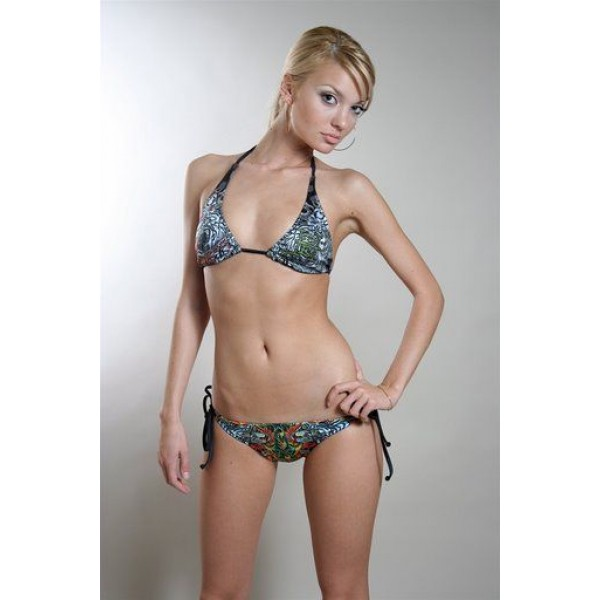 Ed Hardy Swimsuit Bikini Dragon Tiger Print For Women