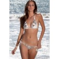 Ed Hardy Swimsuit Bikini Tiger Print White For Women