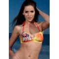 Ed Hardy Swimsuit Bikini Yellow Orange LKS For Women