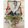 Ed Hardy Womens Swimsuit Bikini Cross Angel Designs