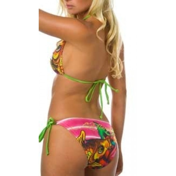Ed Hardy Womens Swimsuit Bikini Cyprinoid Rose Red Online Store
