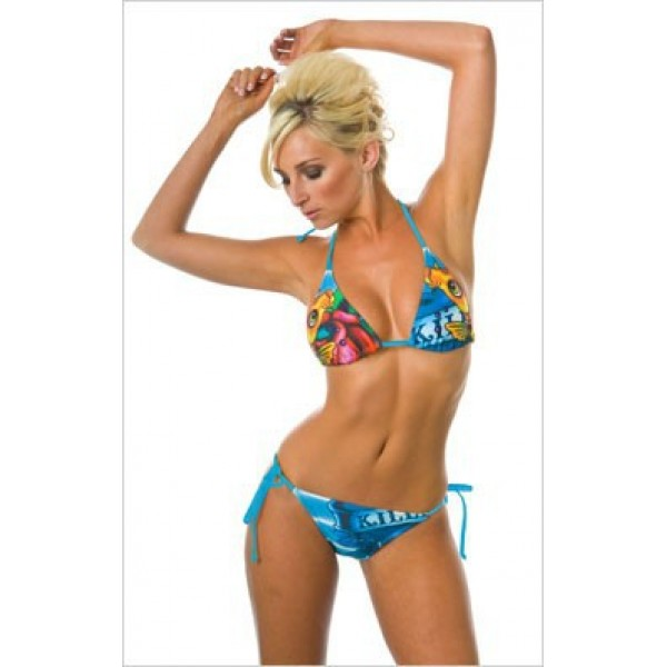 Ed Hardy Womens Swimsuit Bikini Love Kill Slowly Fashion