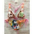 Ed Hardy Womens Swimsuit Bikini Skull Tattoo Shop