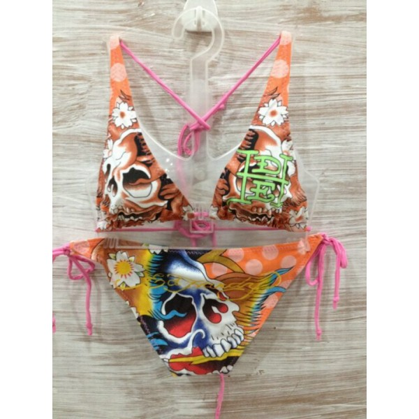 Ed Hardy Womens Swimsuit Bikini Skull Tattoo Shop