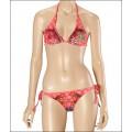 Ed Hardy Womens Swimsuit Bikinis Rose Red Cyprinoid