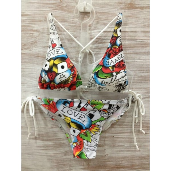 Love Is A Gamble Ed Hardy Womens Swimsuit Bikini