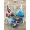 Womens Ed Hardy Swimsuit Bikini Death Before Dishonor USA