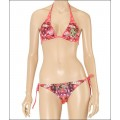 Womens Ed Hardy Swimsuit Bikini Love Kill Slowly Rose Red Girls