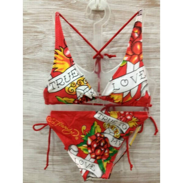 Womens Ed Hardy Swimsuit Bikini True To My Love Wear