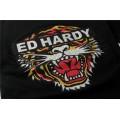 Black ED Hardy Short T Shirts Classic Tiger For Men