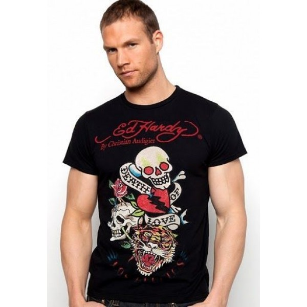 Black Mens T Shirts Ed Hardy DOL Boys Store UK