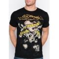 Black Online Mens Ed Hardy Outlet T Shirts KLS