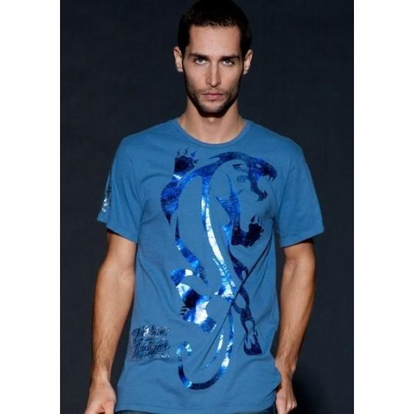 Blue Ed Hardy Shop UK Mens T Shirts For Sale Leopard