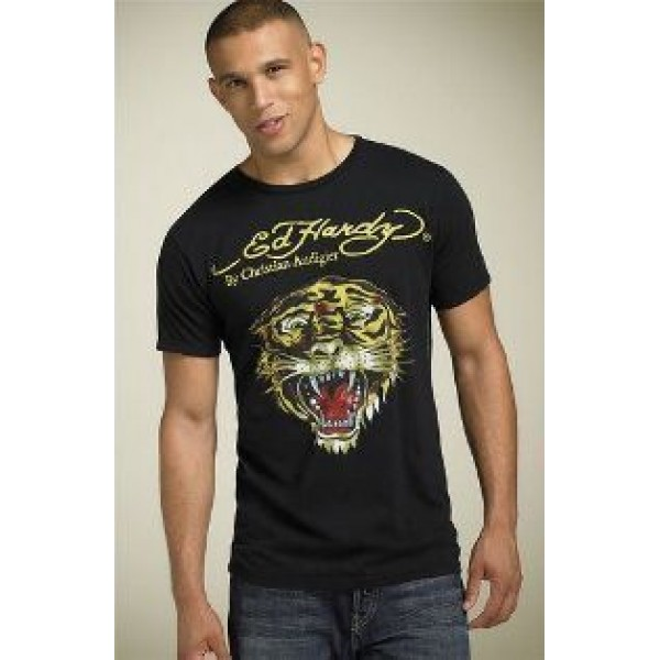 Buy Ed Hardy Pictures T Shirts Mens Black Tiger