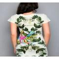 Christian Audigier T Shirts Birds Green For Women
