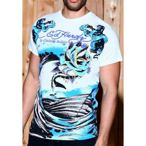 Don Ed Hardy T Shirts Pirates Rose Mens Fashion