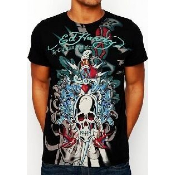 Don Ed Hardy UK Sale Mens T Shirts Death Skull
