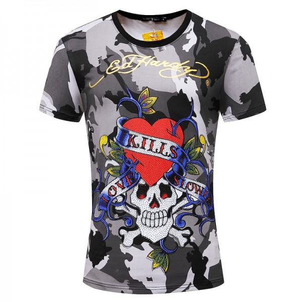 ED Hardy Mens Short T Shirts Camouflage Love Kill Slowly