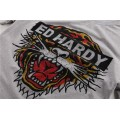 ED Hardy Short T Shirts Grey Classic Tiger For Men