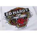 ED Hardy Short T Shirts Mens Classic Tiger White For Sale