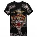 ED Hardy Short V T Shirts Mens Classic Tiger Black Cheap