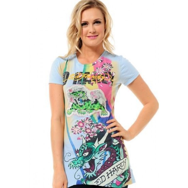 Ed Hardy T Shirts China Dragon For Women