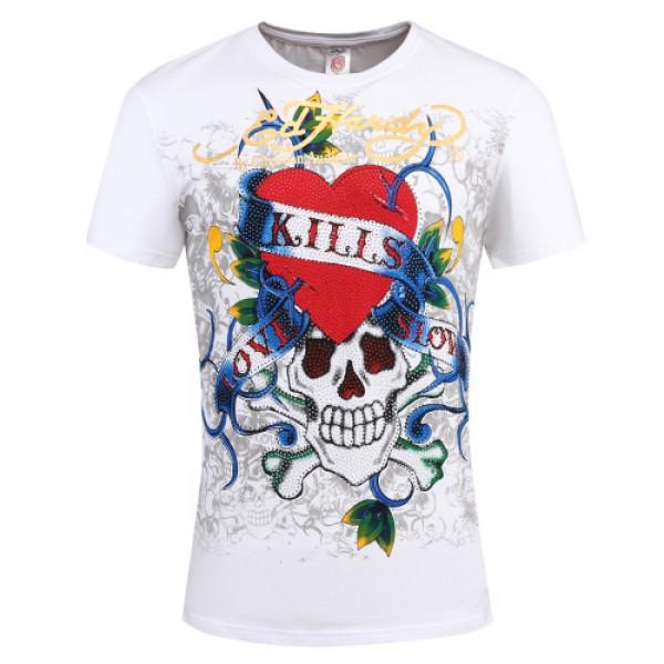 Ed Hardy T Shirts Love Kill Slowly White For Men