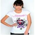 Ed Hardy T Shirts Love Kill Slowly White For Women