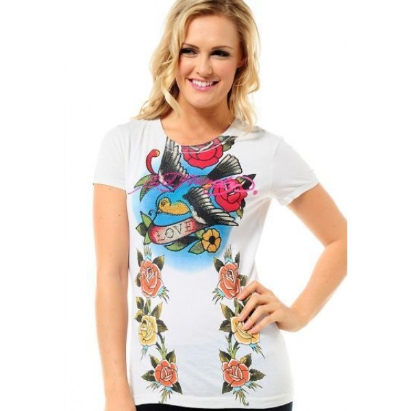 Ed Hardy T Shirts Love White For Women