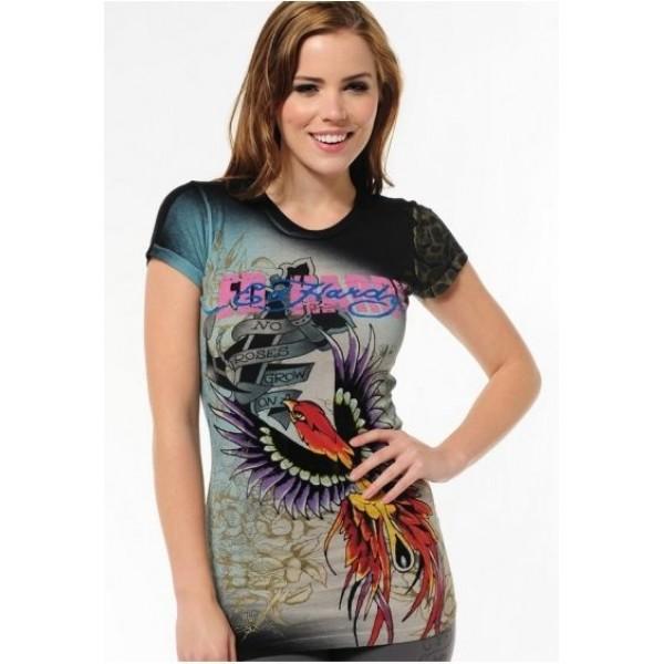 Ed Hardy T Shirts Phoenix Black For Women