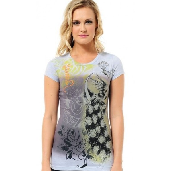 Ed Hardy T Shirts Phoenix Purple For Women